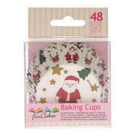 Caissettes à cupcakes noël – 48 pcs – Fun Cakes