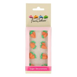 Décors en sucre carotte x16 – Fun Cakes