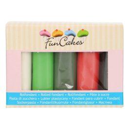 Coffret pâte à sucre – multipack noël – 5x100gr – Fun Cakes