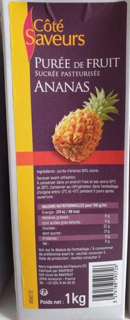 Purée d'ananas 1L – Côté Saveurs