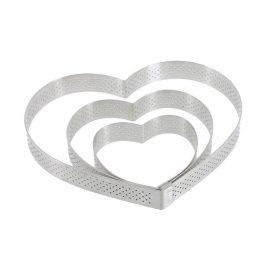 Cercle perforé inox cœur DIAM:12cm H:2cm – De Buyer