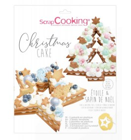 Gabarit christmas cake étoile et sapin – ScrapCooking