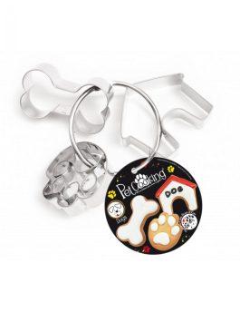 Kit 3 découpoirs inox chien – PetCooking