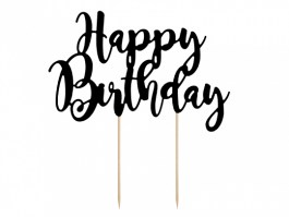 Cake topper happy birthday noir 22,5 CM – KPT11-010 – PartyDeco
