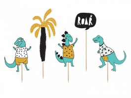 Cake topper Dinosaures party 2 15,5 – 20 CM – KPT30 – PartyDeco