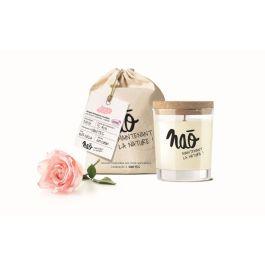 Bougies grand format» avec sac coton bio rose» – Nao