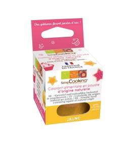 Colorant alimentaire en poudre d'origine naturelle Jaune 10gr – ScrapCooking