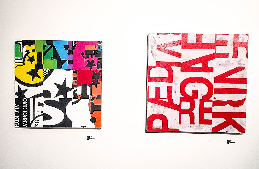 Two works on panel by artist Marc Pekala