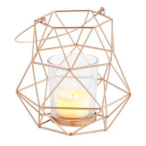 geometric-mini-copper-metal-lantern