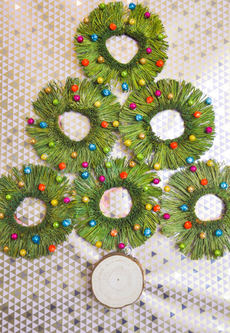 6 (Easy!) DIY Holiday Wall Art Ideas Using Wrapping Paper from The Container Store