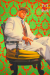 A large-scale portrait of L.L. Cool J by contemporary black artist, Kehinde Wiley.
