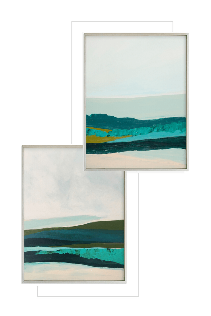 Shop This Gorgeous Art Look: Minted Abstract Landscape Pair