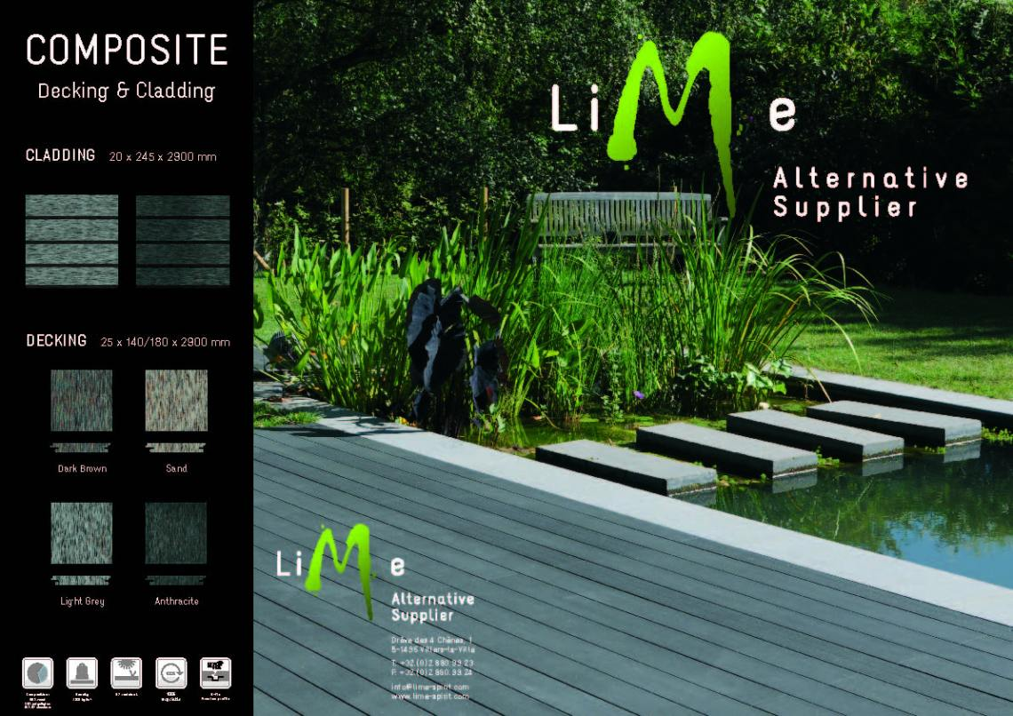 Lime Composite decking