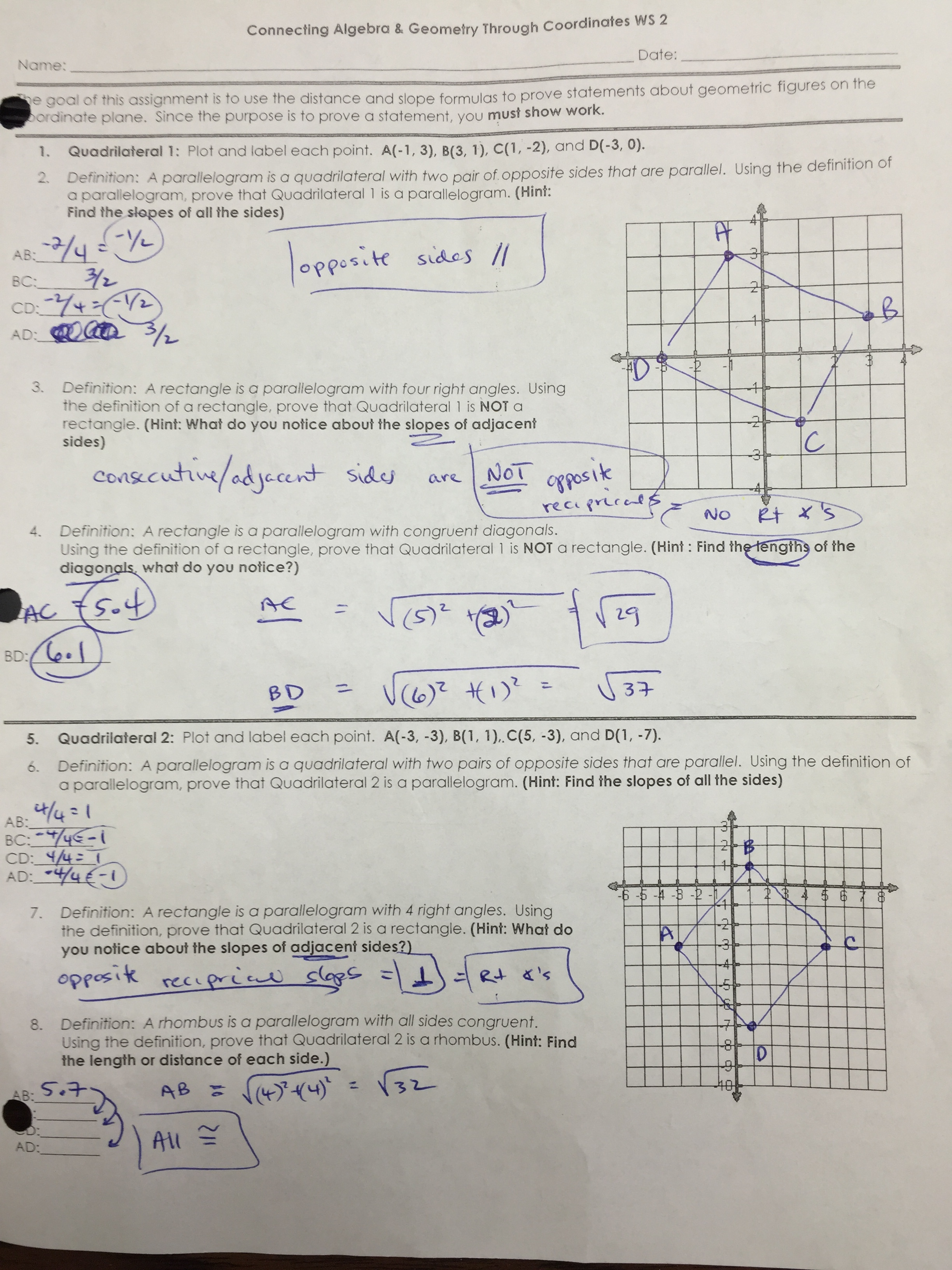Common Core Polygon Worksheet
