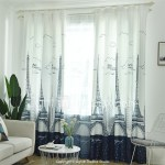 Contemporary Blackout One Panel Curtain Living Room Curtains