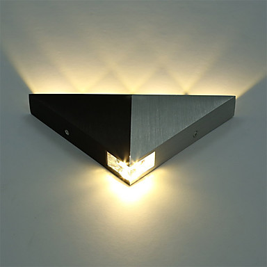 Aluminum Modern Triangle 5W LED Wall Sconce Light Fixture ... on Modern Indoor Wall Sconce id=42040