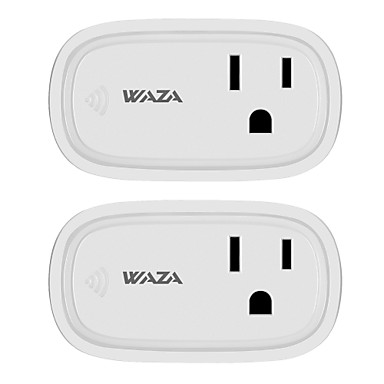 WAZA Smart Plug(US) Mini Outlet Compatible with Amazon Alexa and Google Assistant, Wifi Enabled Remote Control Smart Socket with Timer Function, No Hub Required(2-Pack)