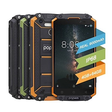 "poptel p9000 max 5.5 inch "" 4G Smartphone ( 4GB + 64GB 13 mp MediaTek MT6750 9000 mAh mAh ) / 1920*1080"