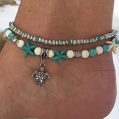 Women's Light Blue Turquoise Bead Bracelet Beads Star ...
