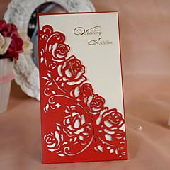 Wrap Pocket Wedding Invitations 50 Invitation Cards Clic Style Flora Card Paper 8