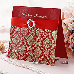 Scarlet Lavender Wedding Invitations Ine049