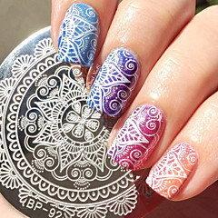 1 Pc Round 5 5cm Nail Art St Template Sting Plate