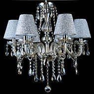 Chandelier Modern Contemporary Traditional Classic Vintage Electroplated Feature For Crystal Glassliving Room Bedroom