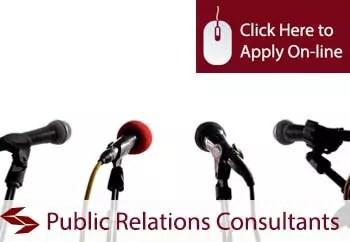 public relations consultants public liability insurance