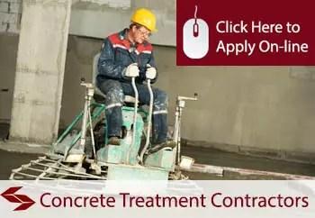 concrete treatment contractors public liability insurance