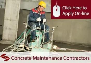 concrete maintenance contractors public liability insurance