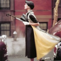 Traffic Ivy Nicholson by Norman Parkinson for US Vogue 1957