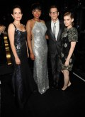 Tina Fey, Jennifer Hudson, Kevin Bacon and Kate Mara attend the 68th Annual Tony Awards at Radio City Music Hall on June 8, 2014 in New York City. (Photo by Kevin Mazur/Getty Images for Tony Awards Productions)