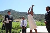 Releasing of the Doves Ceremony for Meshach Taylor on July 6, 2014. Photo by Lia Chang