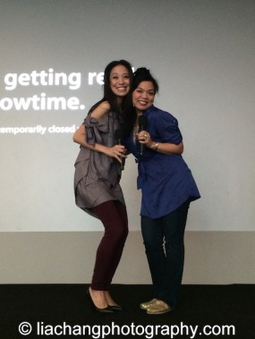 Jaygee Macapugay and Melody Butiu at the Here Lies Love Apple Store Soho Event in New York on October 25, 2014. Photo by Lia Chang