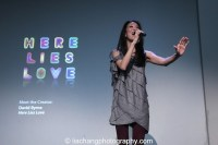 Jaygee Macapugay at the Here Lies Love event at the Apple Store Soho in New York on October 25, 2014. Photo by Lia Chang