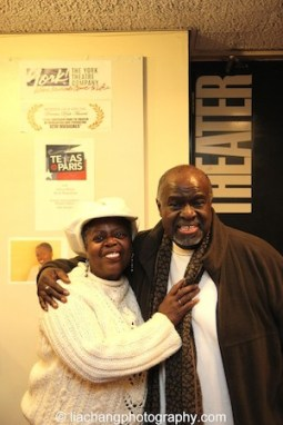 TEXAS IN PARIS star Lillias White and director Akin Babatundé at The York Theatre Company at Saint Peter's in New York on January 29, 2015. Photo by Lia Chang
