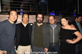 Bobby Kwak, Richard Lui, Greg Pak, Jeff Yang and Erin Quill at the #FreshOffTheBoat Viewing Party at The Circle NYC on February 4, 2015. Photo by Lia Chang