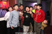 #FreshOffTheBoat star Hudson Yang and pals celebrate at the #FreshOffTheBoat Viewing Party at The Circle NYC on February 4, 2015. Photo by Lia Chang
