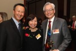 2015 Justice in Action honoree John Kuo, Sandy Leung and Parkin Lee at the Asian American Legal Defense and Education Fund's lunar new year gala at Pier Sixty at Chelsea Piers in New York on February 23, 2015. Photo by Lia Chang