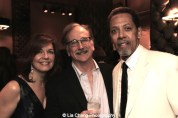 Christa Justus, Mark Linn-Baker and Peter Jay Fernandez attend The 52nd Street Project's Fancy That Benefit at The Edison Ballroom in New York on May 4, 2015. Photo by Lia Chang