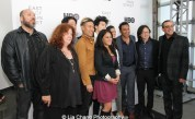 David Stekert, Chrissie Hines, Raymond J. Lee, Tobias Wong, Veronica Reyes-How, Jonathan Yi, Sheetal Sheth, Aasif Mandvi, Jimmy O. Yang and Louis Tancredi attend HBO's screening of East of Main Street: Taking the Lead at Root (Drive-In) in New York on May 6, 2015. Photo by Lia Chang