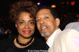 Denise Burse Fernandez and Peter Jay Fernandez attend The 52nd Street Project's Fancy That Benefit at The Edison Ballroom in New York on May 4, 2015. Photo by Lia Chang