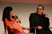 Miss Info and executive producer Louis Tancredi attend HBO's screening of East of Main Street: Taking the Lead at Root (Drive-In) in New York on May 6, 2015. Photo by Lia Chang
