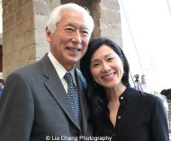 Oscar Tang and his wife Dr. Agnes Hsu-Tang attend the 'China: Through the Looking Glass' press preview at the Temple of Dendur at Metropolitan Museum of Art on May 4, 2015 in New York City. Photo by Lia Chang