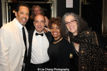 Peter Jay Fernandez, Bruce MacVittie, Denise Burse Fernandez and The 52nd Street Project's Executive Director Carol Ochs attend The 52nd Street Project's Fancy That Benefit at The Edison Ballroom in New York on May 4, 2015. Photo by Lia Chang