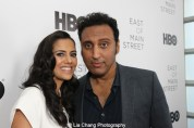Sheetal Sheth and Aasif Mandvi attend HBO's screening of East of Main Street: Taking the Lead at Root (Drive-In) in New York on May 6, 2015. Photo by Lia Chang