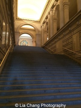 The grand staircase at The Metropolitan Museum of Art. Photo by Lia Chang #emptymet