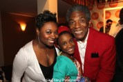 Donica Lynn, Sidra Henderson and André De Shields at the opening night party of Victory Gardens Theater's 2015 IGNITION Festival of New Plays in Chicago on July 16, 2015. Photo by Lia Chang