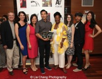 "Finding You by ""The Perfect Asian Pear"" (Top Ten Film; Best Actor, Grant Chang; Best Director, Grant Chang) and his team at the 11th Annual 72 Hour Shootout Red Carpet Awards Ceremony at The Azure in New York on July 25, 2015. Photo by Lia Chang. Photo by Lia Chang"