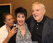Choreographer Graciela Daniele, Actress Chita Rivera and Composer John Kander attend the 'The Visit' Broadway cast performance and CD signing at Barnes & Noble, 86th & Lexington on July 9, 2015 in New York City. Photo by Lia Chang